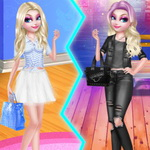 Elsa Sweet VS Cool Style